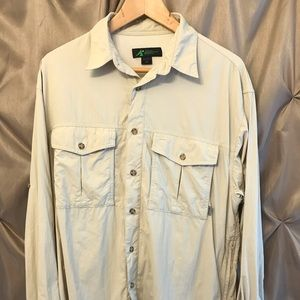 Eastern Mountain Sports Vented Fishing Shirt Med.